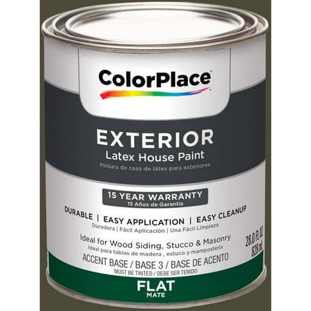 Colorplace Exterior Paint Olive Black Flat 50yy 09 101
