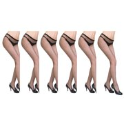 JenniWears Women's 6-Pack Sexy Net Pantyhose Stockings Sheer Ultrathin Socks