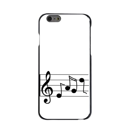 7 Music Notes (CUSTOM Black Hard Plastic Snap-On Case for Apple iPhone 7 PLUS / 8 PLUS (5.5