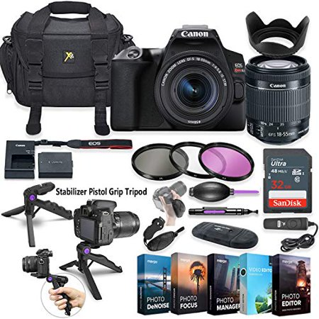 Canon EOS Rebel SL3 DSLR Camera with 18-55mm Lens + 5 Photo/Video Editing Software Package & Accessory