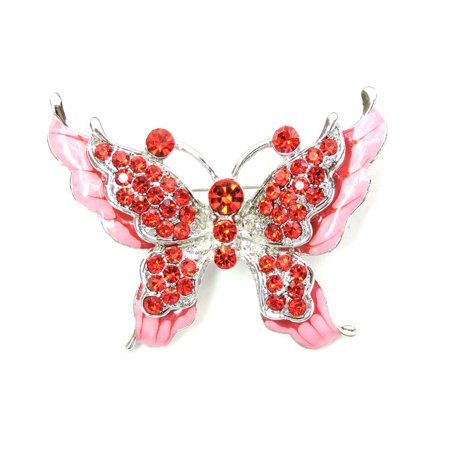 Faship Gorgeous Rhinestone Crystal Butterfly Pin Brooch
