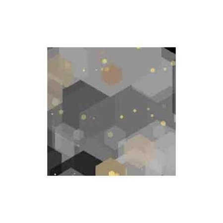 HD Image ArtScape Silver Hexagons Pool Table Cloth (7 ft.)