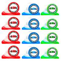 Race Car Easy Toppers Cupcake Decoration Rings -12pk