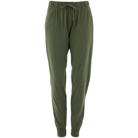 Donna L'oren Women's Olive Jogger Lounge Pants