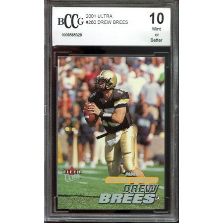 2001 Ultra 260 Drew Brees New Orleans Saints Rookie Card Bgs Bccg 10