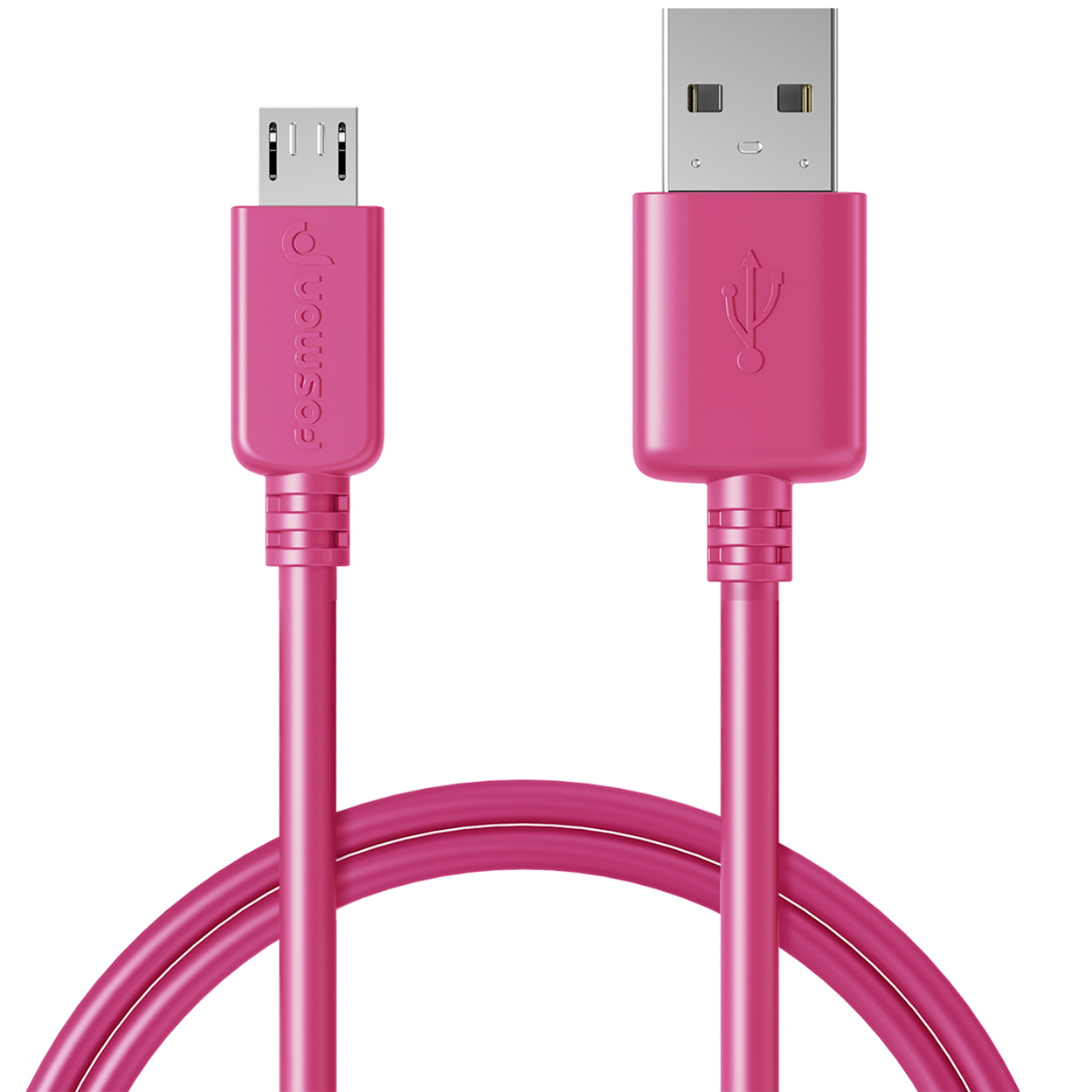 Fosmon Micro USB Cable, (3FT - Hot Pink) Ultra Durable (TPE Jacket & Housing) Sync Charge Cable for Samsung Galaxy S7 / S7 Edge / S6 / S5, Moto G/X/V, LG G4/G3, Nokia Series and More