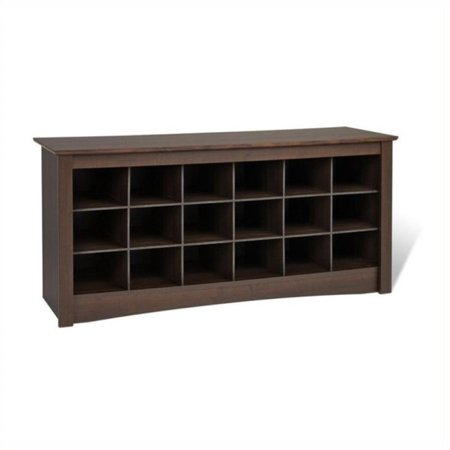 Fine Pemberly Row 18 Cubby Shoe Storage Bench In Espresso Caraccident5 Cool Chair Designs And Ideas Caraccident5Info