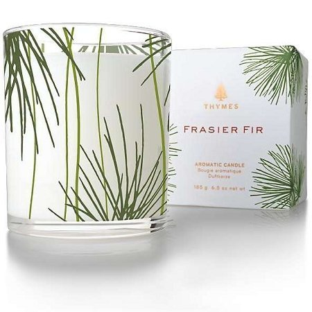 Thymes Frasier Fir Poured Candle, Pine Needle Design