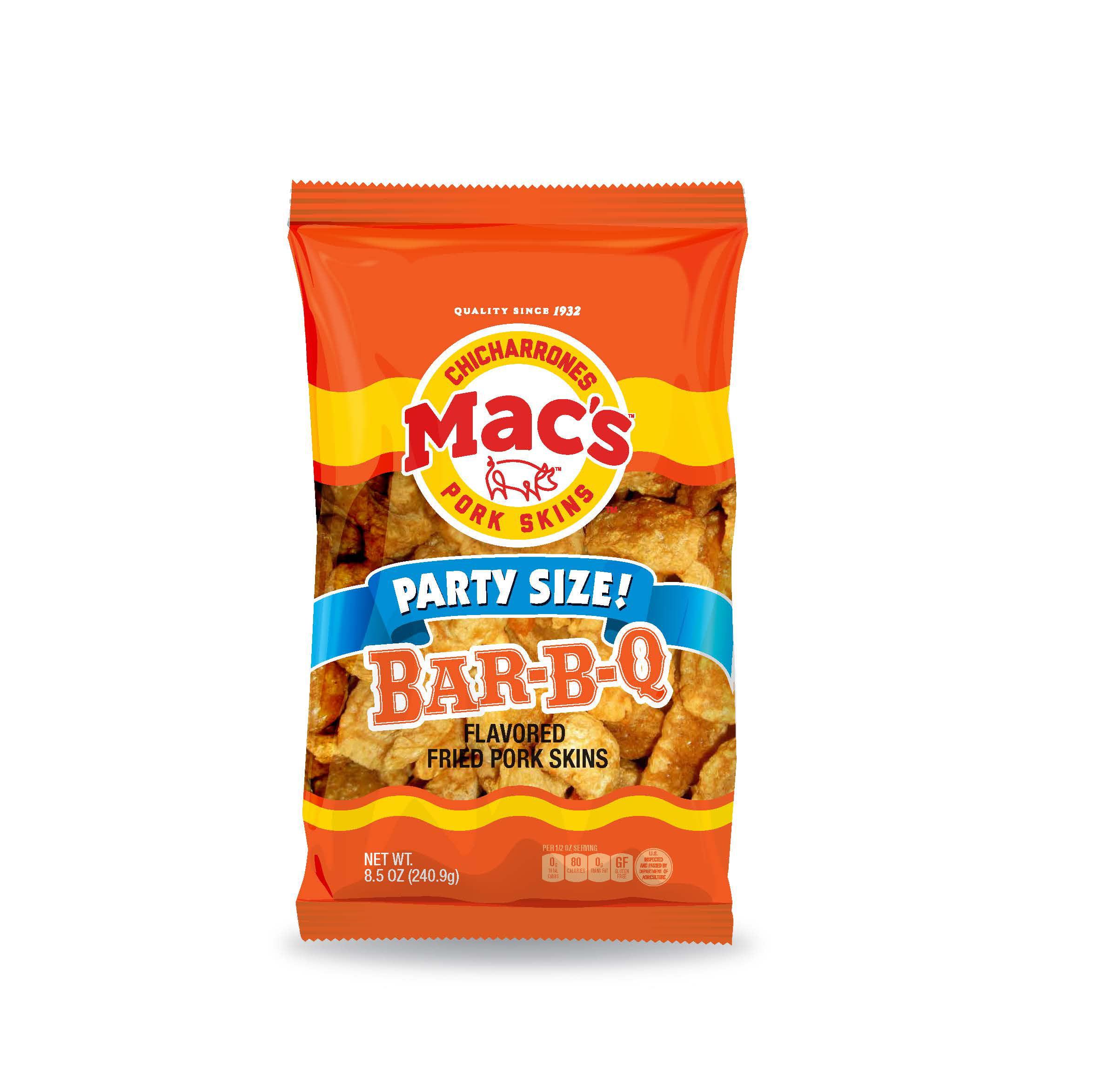 Mac's Bar-B-Q Pork Skins Party Size!, 8.5 Oz.