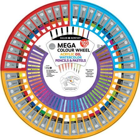 Simply Mega Color Wheel Mixed Media Art Kit 103pcs