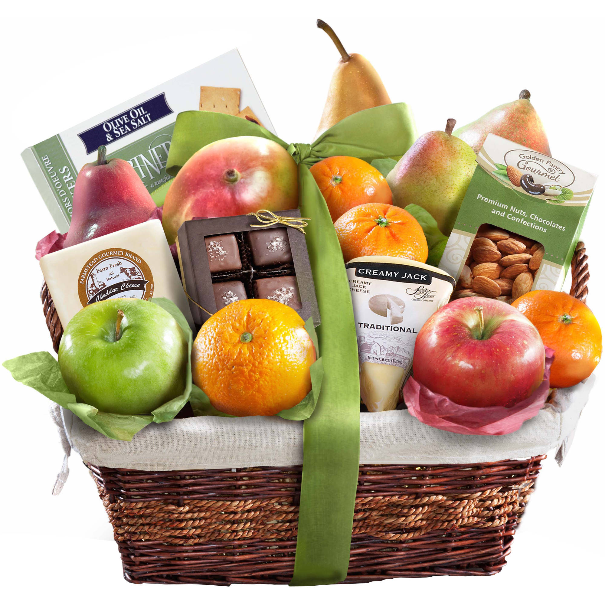 Golden State Fruit The Classic Deluxe Fruit Basket Gift Set, 19 pc