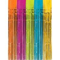 Multi-Colored Bright Rainbow Foil Door Curtain (1ct)