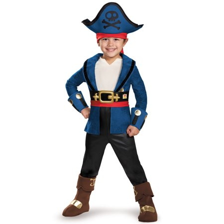 Captain Jake and the Never Land Pirates: Deluxe Captain Jake Child Halloween Costume, Small (4-6) - Izzy Jake Neverland Pirates Halloween Costume