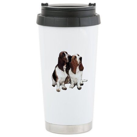 CafePress - Basset Hounds Stainless Steel Travel Mug - Stainless Steel Travel Mug, Insulated 16 oz. Coffee Tumbler Basset Hound Travel Mug