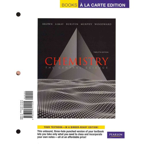 Chemistry: The Central Science, Books a La Carte, eText