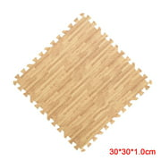 Home Floor Mat Carpet Blanket Exercise Gym Bathroom EVA Rug Kid Play Crawling Wood Pattern Foam Carpet