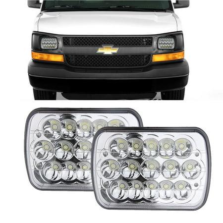 - DOT APPROVED 45w Rectangle 5x7 7x6 Led Headlights Hi/Low Sealed Beam H4 PLUG H6054 H5054 6052 For Ford F-550 F-450 F-350 F-250 Super Duty E-350 E-250 Econoline E-150 Club Wagon