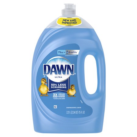 - Dawn Ultra Dishwashing Liquid Dish Soap, Original Scent, 75 fl oz