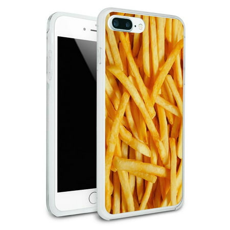 French Hybrid (French Fries Protective Slim Hybrid Rubber Bumper Case for Apple iPhone 7+)