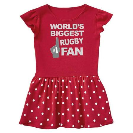 Rugby Biggest Fan Foam Hand Infant Dress