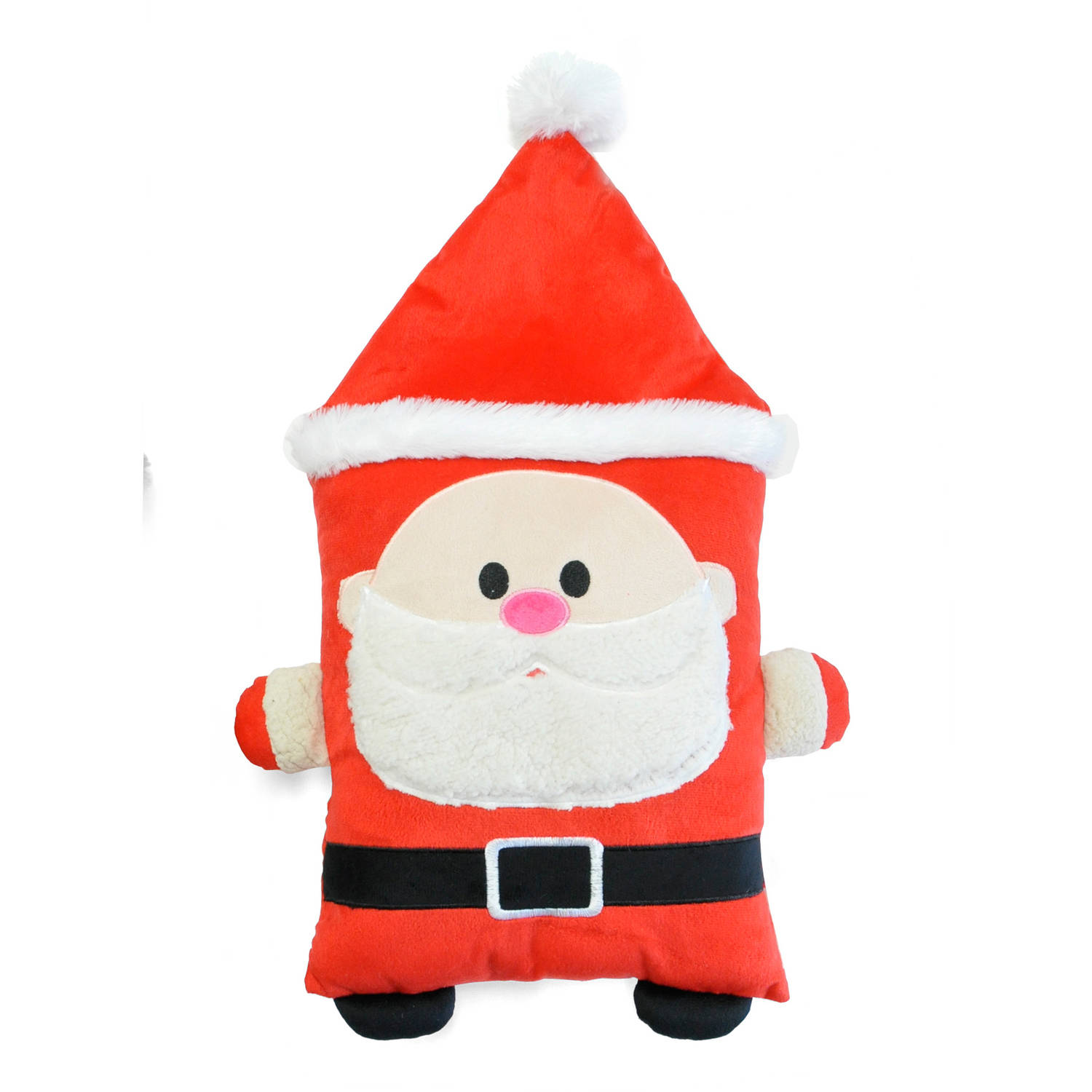 Generic Cuddly Crew Holiday Pillow, Santa