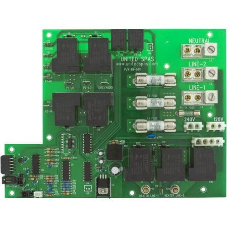 PCB, United Spas B8 Power, (10 Pin