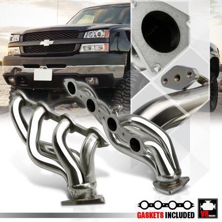 Stainless Steel Shorty Exhaust Header Manifold for 99-05 Silverado/Sierra 6.0 V8 00 01 02 03
