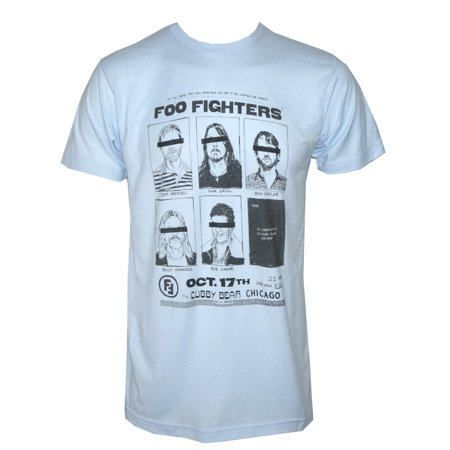 Foo Fighters Eagle (FOO FIGHTERS Cubby Bear Chicago T-Shirt Light Blue)