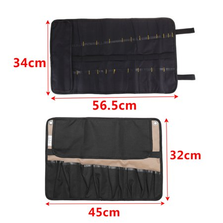NEW 10/21 Pockets Professional Chef Knife Bag Roll Bag Carry Case Kitchen Portable Storage Knifes Good Quality For Home/Kitchen Dining Knife - image 6 de 8