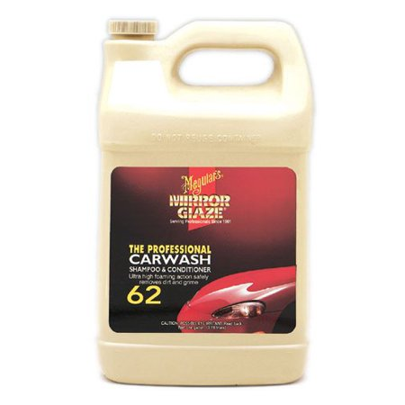 Meguiar's M6201 Mirror Glaze Car Wash Shampoo & Conditioner, 1 Gallon