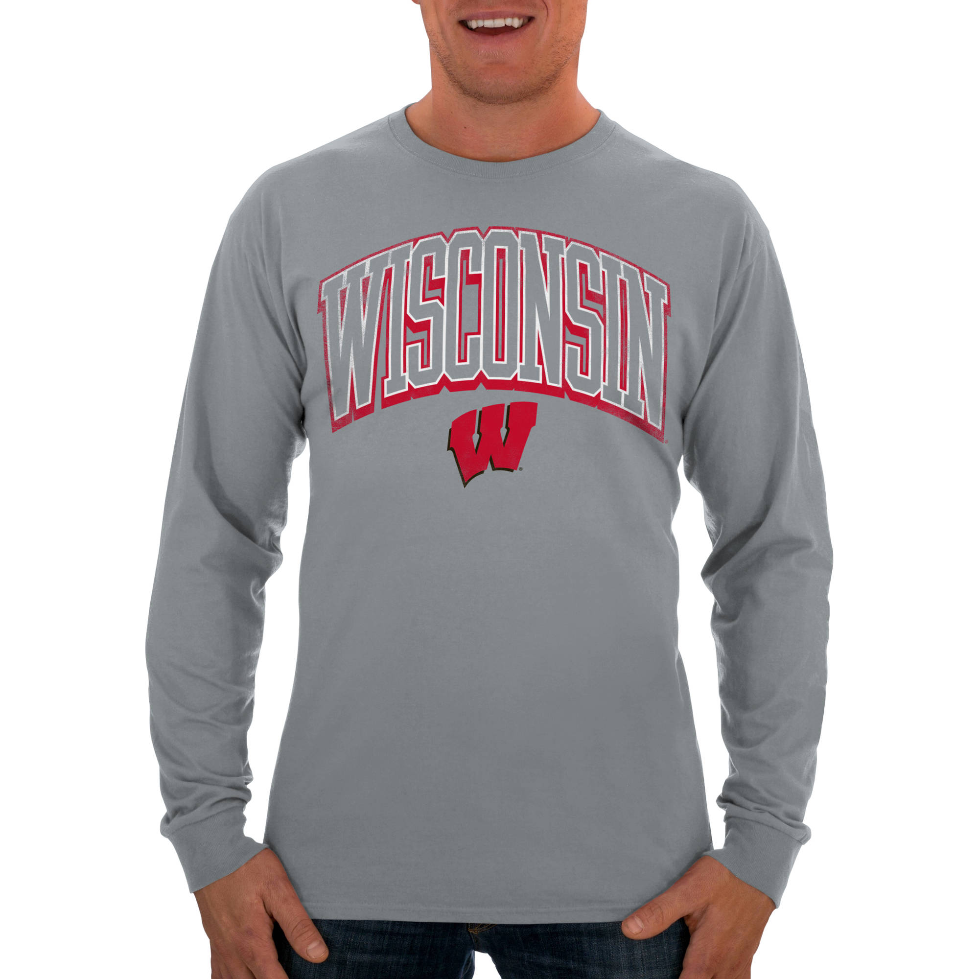 Russell NCAA Wisconsin Badgers Men's Long  T-Shirt