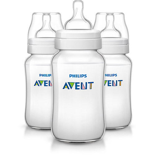 Philips Avent Classic Plus Baby Bottle, 11 Ounces, 3-Pack, BPA-Free, SCF566/37