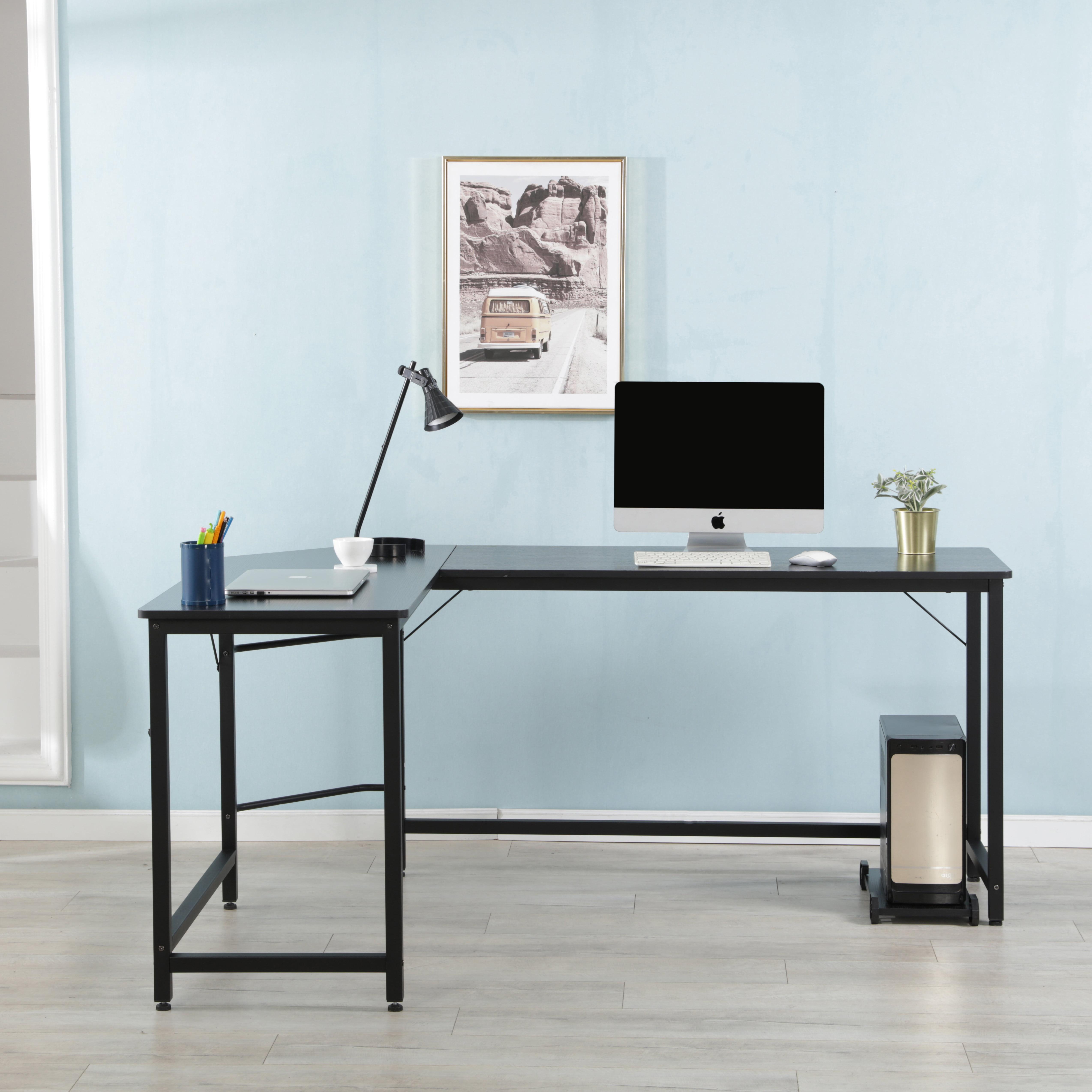 "Gaming Desk Corner Desk L Shaped Computer Desk, 66"" Small ..."
