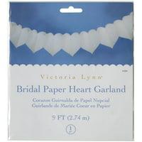 Tissue Paper Garland, 9', White