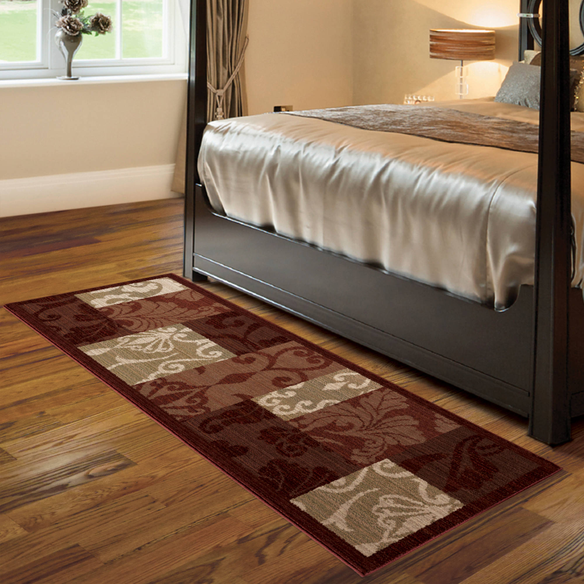 better homes and garden rugs. better homes and gardens scroll patchwork area rug or runner - walmart.com garden rugs c