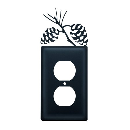 8 Inch Pinecone Single Outlet Cover, Perfect gift for those that love light cover By Village Wrought Iron