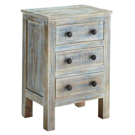 Charlowe three drawer night stand color multi for Multi night stand