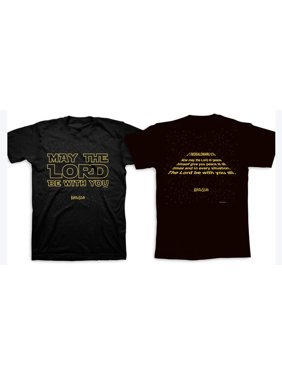 6f2b8028 Product Image May the Lord Be With You Glow in the Dark Adult SS T-shirt.  Kerusso