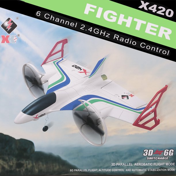 WLtoys XK X420 Vertical Flight Mode Aircraft 3D 6G EPP 2.4G 6CH Altitude Hold Remote Control Airplane Stunt Fixed-wing RTF Toy