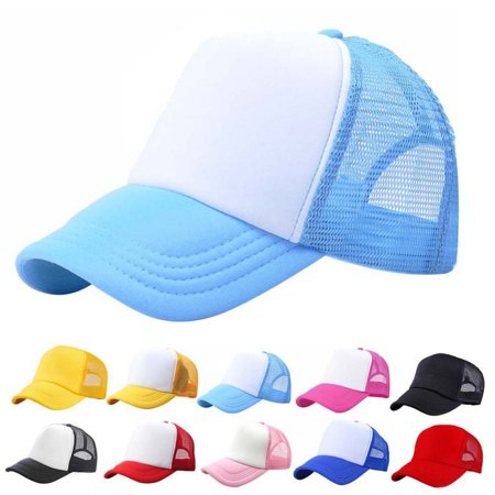 Kacakid Baby Toddler Boys Girls Sport Hat Child Peaked Baseball Mesh Snapback Adjustable Cap 3-8Y (Ribbon Baseball Hat)