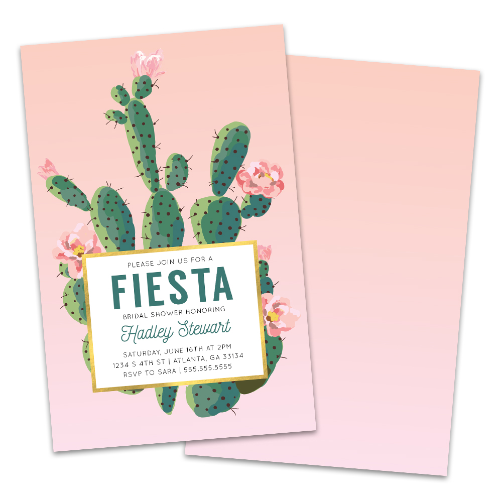 Personalized Fiesta Bridal Shower Invitations