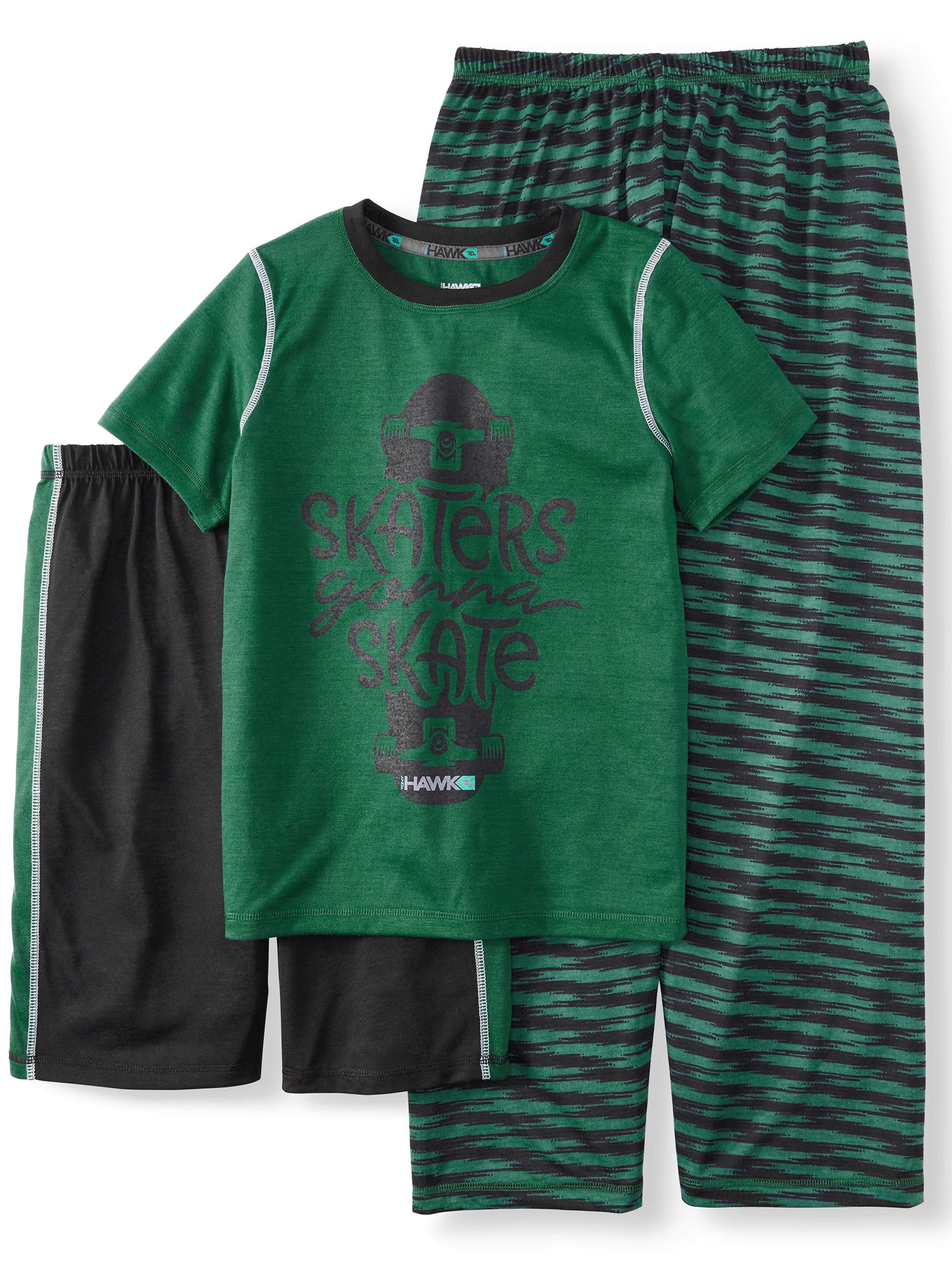 Boys' 3 Piece Tony Hawk Skater Boy Pajama Sleep Set (Little Boy & Big Boy)