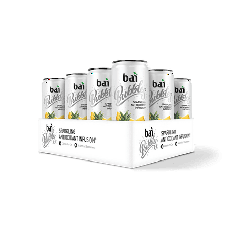 Bai Bubbles Antioxidant Infused Beverage, Peru Pineapple, 11.5 Fl Oz, 12 Count