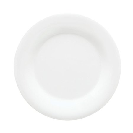 White Wide Rim Plate (Diamond White 9 inch Wide Rim Plate Melamine/Case of 24 )