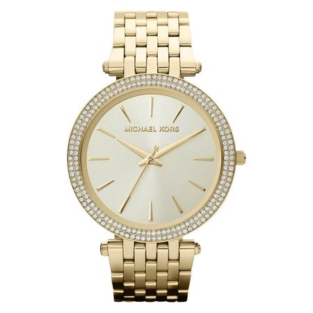 Gold Tone Bracelet Watch (Michael Kors MK3191 Women's Darci Pavé Gold-Tone Watch, Gold Tone Stainless Steel Bracelet, Round, 39mm Case )