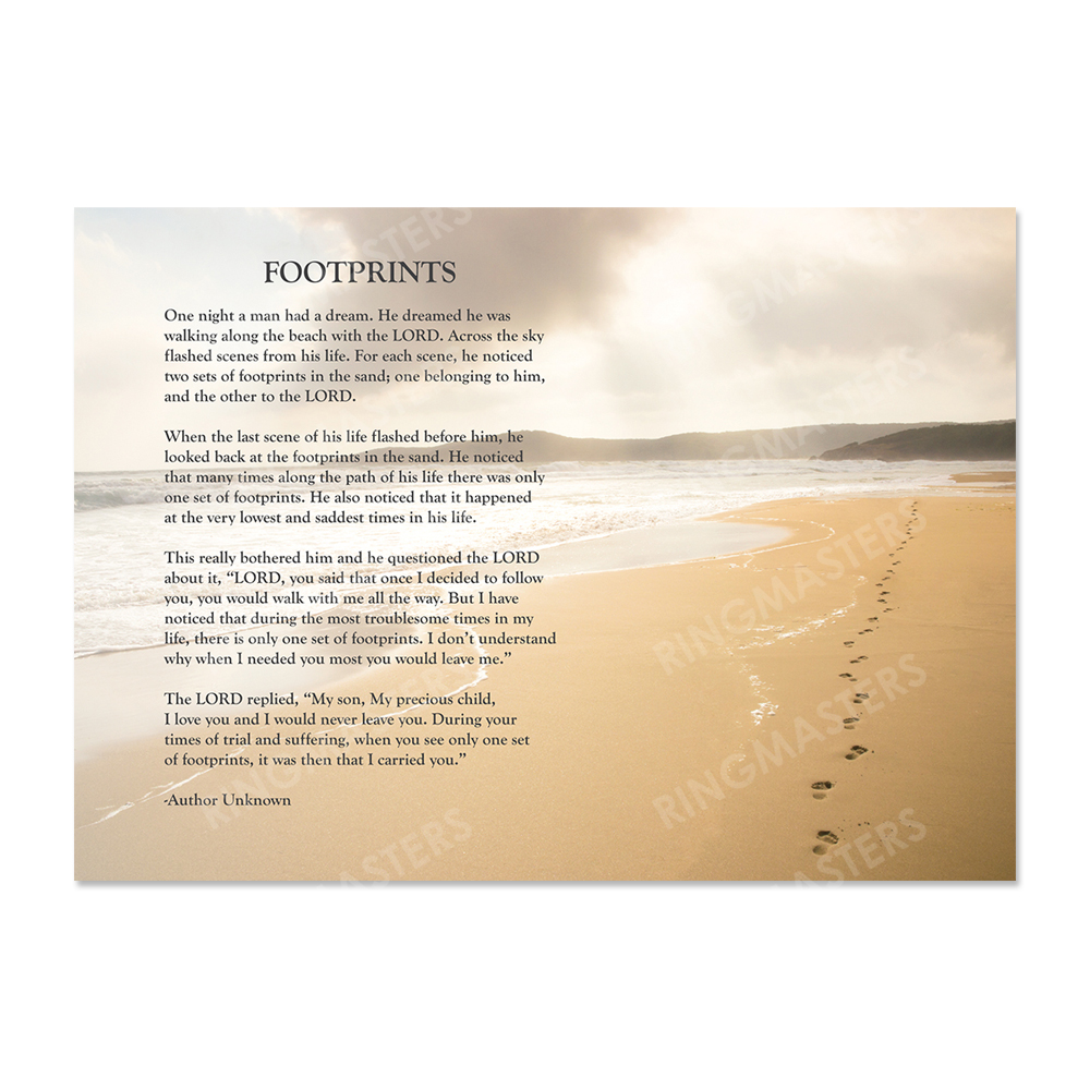 Awesome Footprints In The Sand Poem Wall Art Frieze - Wall Art ...