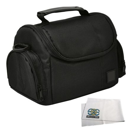 Medium Soft Padded Digital SLR Camera Travel Case/Bag with Clip-on Detachable and Adjustable Strap By I3ePro