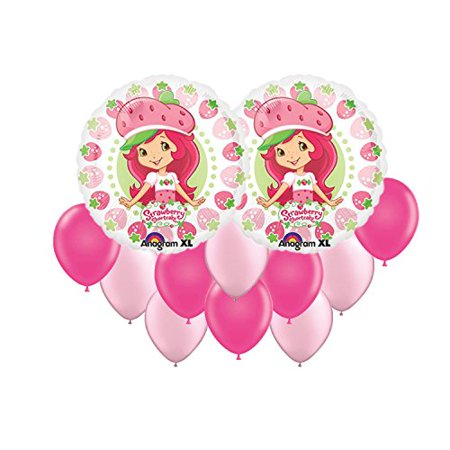 Strawberry Shortcake Party Supplies Berry Balloon Bouquet 12pc