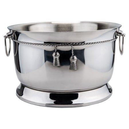 3¾ Gallon Stainless Steel  Double-Walled Party Tub w/Tie Knot,