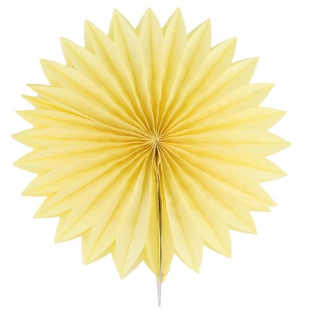 Tissue Paper Folding Fan Flower Yellow for Party Store Window Wedding Home Decor - image 4 of 4
